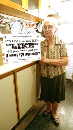 grandma knows best.