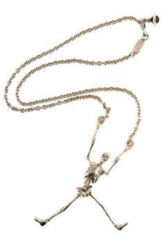 Vivienne Westwood Skeleton Necklace Silver