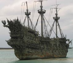 """This is Blackbeard's ship, the Queen Anne's Revenge, used in the filming of Disney's """"The Pirates of the Caribbean ~ On Stranger Tides""""."""
