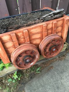 Our planter looks like an old mining cart now!