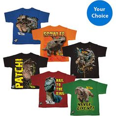 Walking with Dinosaurs Boys Graphic Tee, Your Choice