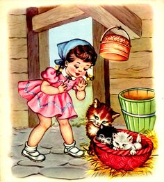 by Maria Pia Retro Kids, Vintage Pictures, Vintage Images, Cute Images, Cute Pictures, Vintage Prints, Vintage Posters, Vintage Children's Books, Vintage Greeting Cards