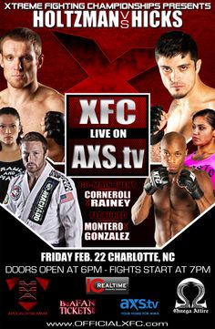 XFC 22: Holtzman vs Hicks Fight for title contention, winner gets Nick Newell