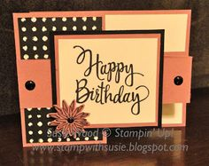 Stampin' Up!- Here is a pretty double 'Z fold' card with a twist!! It is bright & bold! I love it!