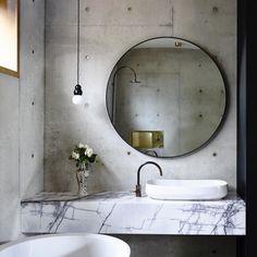concrete + marble
