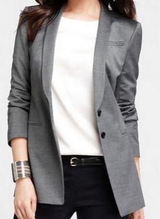 The perfect gray shawl collar blazer!