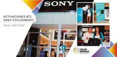 @colorimpresosac polos gorras lapiceros globos flyers #merchandising  #ActivacionBTL #SONY #CYCLEENERGY