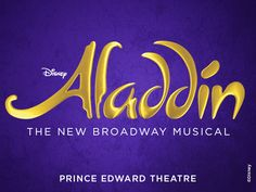 You Ain't Never Had A Friend Like... Aladdin At The Prince Edward Theatre! Shaun Nolan