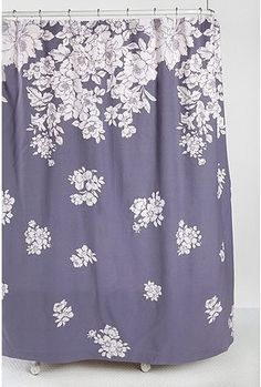 Falling Floral Shower Curtain - StyleSays