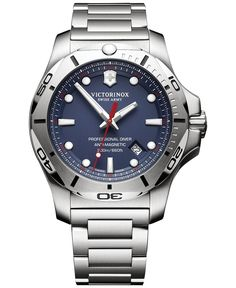 c48e50bfaa5 Men s I.N.O.X. Professional Diver Stainless Steel Bracelet Watch 45mm. Swiss  Army ...