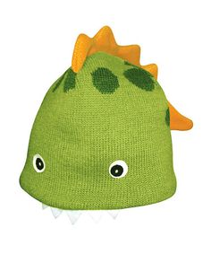 Take a look at this Green Dinosaur Beanie by Kidorable on #zulily today!