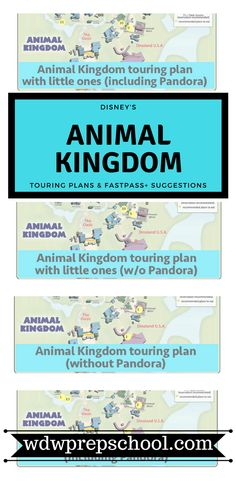 Heading to Disney's Animal Kingdom? Read this FIRST to help minimize your waits | Walt Disney World | Animal Kingdom | Touring plans | FastPass+ suggestions | Pandora