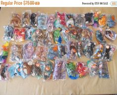 Ty Beanie Babies- set of 44- McDonalds 1990's toys -FREE SHIPPING! by CellarDeals on Etsy