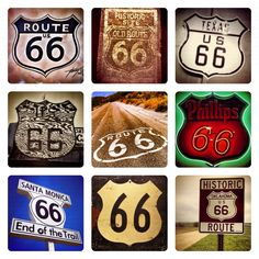 Route 66 Road Signs.