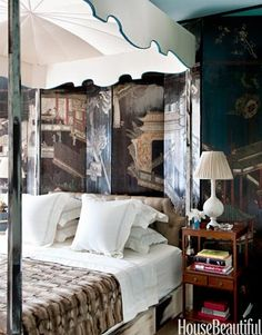 A Modern Bedroom Mixed with Antiques