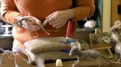 sarafina fiber art mouse - YouTube