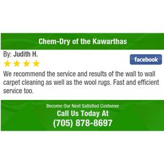 We recommend the service and results of the wall to wall carpet cleaning as well as the...
