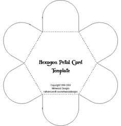 Great for Lap Books  Mirkwood Designs - Hexagon Petal Card Template-