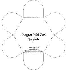 Great for Lap Books  Mirkwood Designs - Hexagon Petal Card Template-