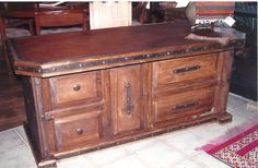 Ranchero Leather Desk