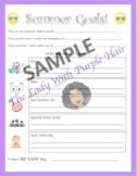 The Lady With Purple Hair Teaching Resources   Teachers Pay Teachers Teacher Resources, Teacher Pay Teachers, Goals Worksheet, Summer Goals, Teacher Newsletter, Purple Hair, Worksheets, Have Fun, Encouragement
