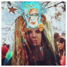 "Anne on Instagram: ""Bowie memorial second line. #arcadefire #DavidBowie #bowiesecondline #preservationhall #jazz #music #parade #NewOrleans #nola #frenchquarter #bowiegras #costume #winbutler #band"""