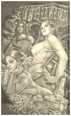 ⭐♥⭐♥ Chicano Drawings, Chicano Tattoos, Chicano Love, Chicano Art, Catrina Tattoo, Azteca Tattoo, Cholo Art, Prison Art, Lowrider Art