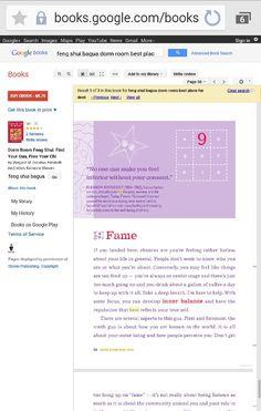 Dorm Room Feng Shui Book: Fame Corner.