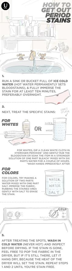 Ruining your favorite underwear is the worst. We want to show you how to get out period stains in 3 easy steps! Check out this simple DIY, and save your undies!