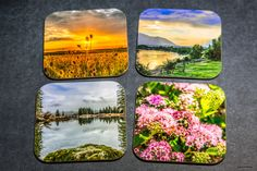 Most sold items - Wooden Scenic and/or Wildlife coasters , set of 4, Bar, wood, gift for mom, wedding gift, drinkware, home accents, gifts by PicturesFromHeaven on Etsy