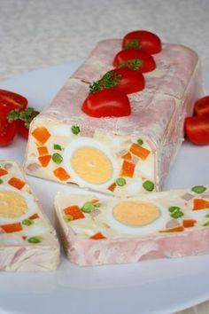 Home - Kifőztük Cheesy Recipes, Meat Recipes, Cooking Recipes, Dessert Drinks, Dessert Recipes, Cold Dishes, Hungarian Recipes, Food Decoration, No Bake Cake