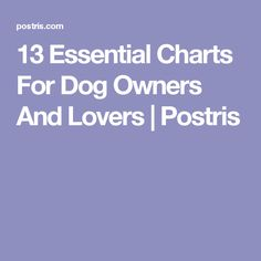13 Essential Charts For Dog Owners And Lovers | Postris