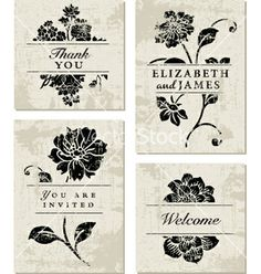 Modern floral template vector by vectormikes on VectorStock®