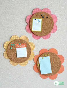 Flores de corcho para la habitación infantil