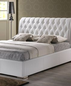 Take a look at this White Bianca Tufted Modern Bed by Baxton Studio on #zulily today!