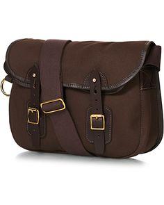 Chapman Bags Troutbeck 14 Canvas Shoulder Bag Brown