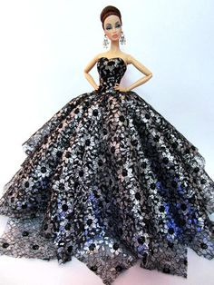 Eaki Evening Dress Outfit Poppy Parker Silkstone Barbie Fashion Royalty Monogram | eBay
