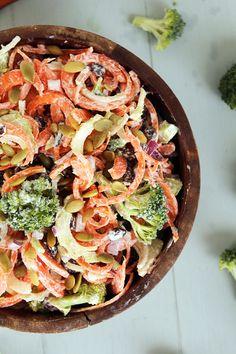 Summer Broccoli & Carrot Slaw Salad