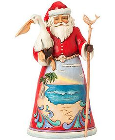 Jim Shore Christmas Collectible Figurines Collection - Santa Making Waves