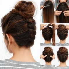 If you're looking to change up your go-to top knot, our Reverse Braided Bun Hair Tutorial will be your new favorite! Find the steps on the blog!