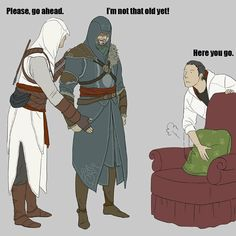 Assassion creed x reader Assessin Creed, All Assassin's Creed, Assassins Creed Comic, Assassin's Creed Brotherhood, Gamers, Funny Games, Manga, Fan Art, Jokes