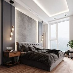 Interior bedroom in a modern style. In this … – Furniture Bedroom – Bedroom Ideas Modern Luxury Bedroom, Luxury Bedroom Design, Master Bedroom Interior, Modern Master Bedroom, Modern Bedroom Decor, Room Design Bedroom, Bedroom Furniture Design, Home Room Design, Luxurious Bedrooms