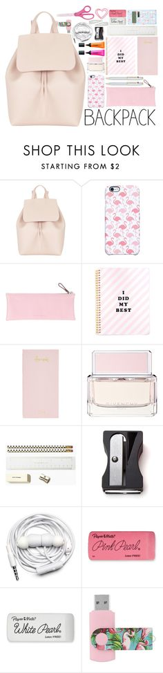 """back to school: What's in My Backpack?"" by lisannes1 ❤ liked on Polyvore featuring interior, interiors, interior design, home, home decor, interior decorating, Mansur Gavriel, Uncommon, Giorgio Fedon 1919 and Harrods"