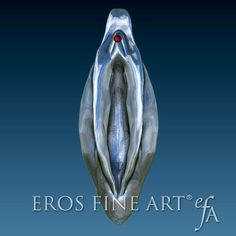 Yoni erotic jewelry pendant  exclusive silver by ErosFineArt