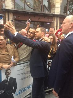Exploring Tom Hardy, Tom on the red (well, blue) carpet for the...