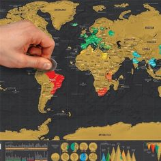 Scratch-Off World Map Poster - SPECIAL OFFER