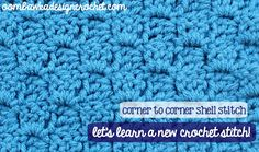 Corner-to-corner Shell Stitch Oombawka Design Crochet (tutorial on Corner-to-Corner Shell Stitch)