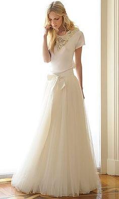 De tulen trouwrok van Olivia Palermo scoort hoge ogen in de bruidswereld en wij zijn ook verknocht aan deze trend. Comfort verzekerd op je huwelijksdag!