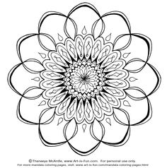 Free Mandala Design to Print and Color! I'm thinking print onto fabric / paint and make into pillows