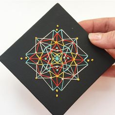 Another little embroidered canvas. Contemporary Embroidery, Textile Fiber Art, Thread Art, Mandala Art, Arts And Crafts, Textiles, Canvas, Instagram, Tela